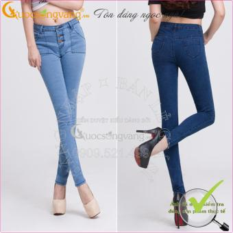 Quần jean nữ đẹp co giãn lưng cao Skiny GLQ002