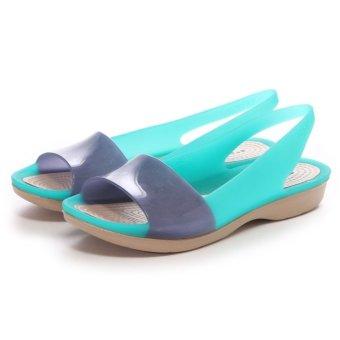 Giày Xăng Đan Nữ Crocs Colorblock Translucent Flat