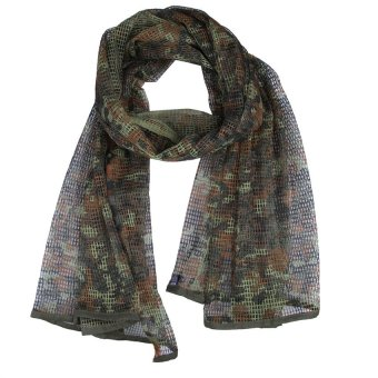 HKS Universal German Camo Mesh Scarf Outdoor Muffler Breathable Tactical Hood - intl