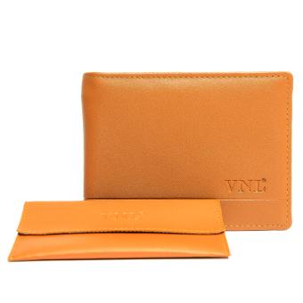 Ví da nam VNLVN2LAZ23NB ( Nâu bò ) + Tặng 1 ví đựng card visit