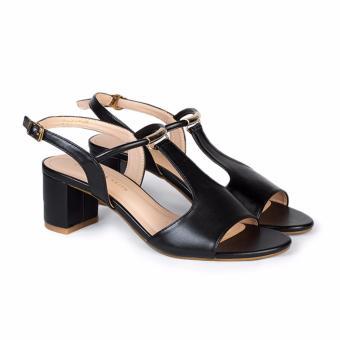 Giày Sandal nữ gót vuông cao 5cm HC1305 (Đen)