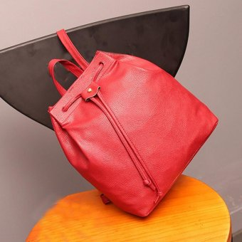 Women Fashion DrawstringTravel Satchel School Bag Backpack Bucket Bag - intl
