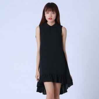 Đầm Đen Cổ Sen Kim Fashion KFD0314 (Đen)