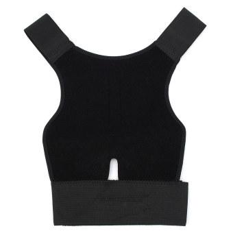 Posture Corrector Magnetic Back Shoulder Brace Belt Adjustable Therapy Straight - Intl