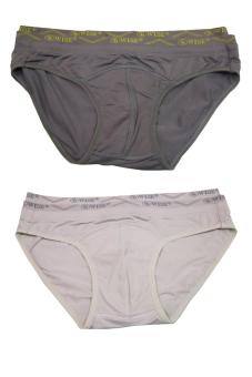 Bộ 4 quần lót nam Wise 8006 (Xám nhạt và xám đậm)