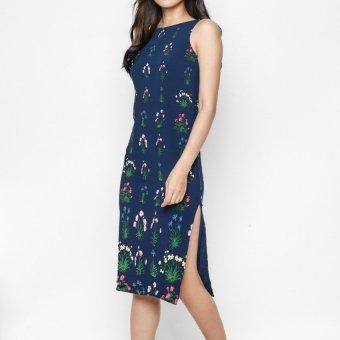 Đầm xẻ tà hoa văn MINT Basic (Hoa văn)