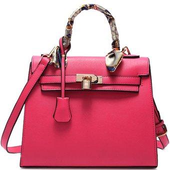 Túi xách tay kelly.Kiểu khóa túi lạ.đẹp mắt.màu hồng phong cách-197_màu hồng