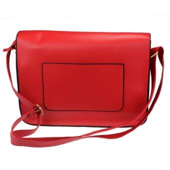 Hot New Girl Women Leather Satchel Shoulder Messenger Bag Handbag Red