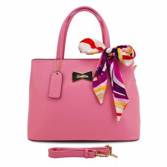 Túi xách tay kèm khăn Carlo Rino 0303373-001-24 (hồng)