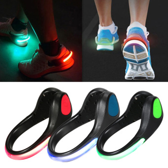 Moonar Shoes Accessories Unisex Luminous Night Safety Warning Shoes Clip LED Light One Size (Green) - intl