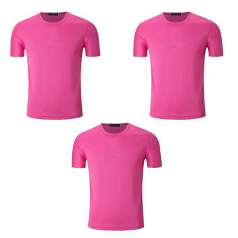 Bộ 3 áo thun nam micro mesh ZANI ZMA81824NP – Màu hồng