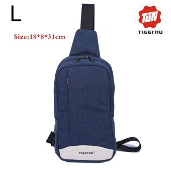 Lan-store Premium Quality Chest Bag-2017 Tigernu Brand Man Messenger Bags Casual Men's Travel Bags Chest Bag Pack Small Crossbody Men Women Shoulder Bag (Blue) - intl