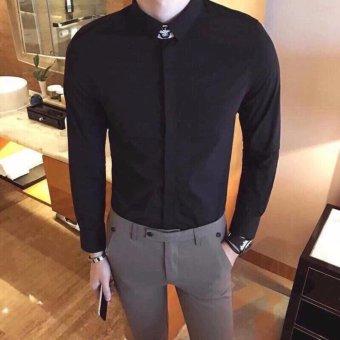 Áo sơ mi nam dài tay Cao Cấp Hàn Quốc LyLyFashion (đen)
