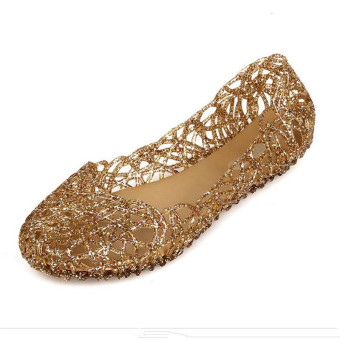 Multicolors Summer Women Ventilate Crystal Jelly Hollow Out Sandals Flat Shoes - Intl - Intl
