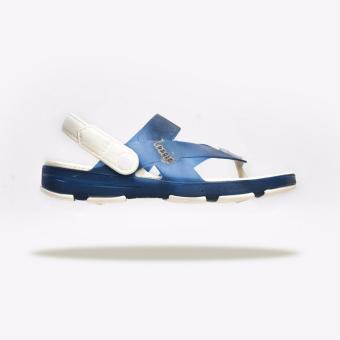 Giày Sandal Nam Leedo Strap 106 (Xanh Dương Trắng)