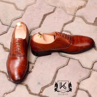 Giày da công sở buộc dây KAZIN màu nâu KZN0042