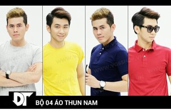 Bộ 4 áo thun nam DT