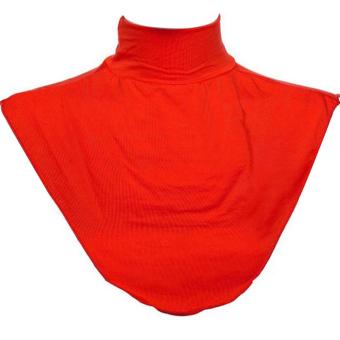 Women Muslim Moslem Hijab Modal Turtleneck Neck Cover Dickey Mock Fake False Collar Red (Intl)