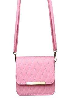 HKS Women Leather Shoulder Bag Clutch Handbag Tote Purse Hobo Messenger Pink - intl