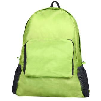 Folding Shoulder Bag Female Outdoor Backpack Green - Intl