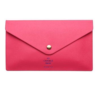 Women Purse Envelope Evening Clutch Bag Ladies Handbag Button Wallet Tote HOT Rose red - intl