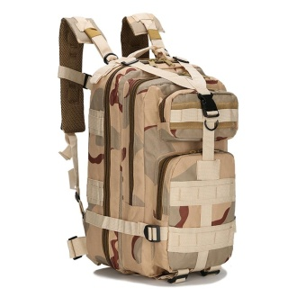 Outdoor Sport Camouflage Travel Bag 3P Backpacks Camping Hiking Trekking A - intl
