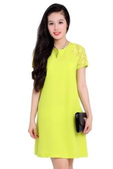 Đầm tay ren Bui Nguyen T677 (Vàng)