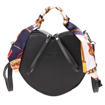 Linemart Limemart European Vintage Style Women's Girls Paillette Sequins Handbag Tote Shoulder Bag Cross-body Bag ( Black ) ( Black ) - intl