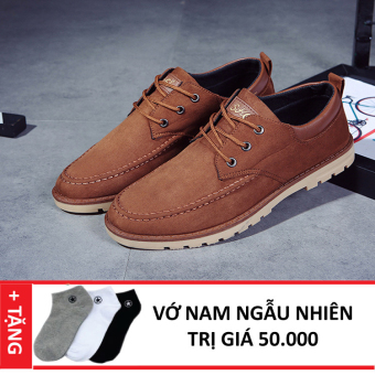 Giày Sneaker Da Thời Trang Nam Zapas GS035 (Nâu) + Tặng Vớ Nam