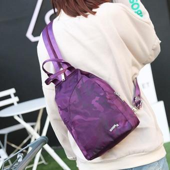Fashion Unisex Casual Travel Satchel Shoulder Backpack PP - intl