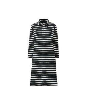 Đầm dọc kẻ trắng đen Uniqlo