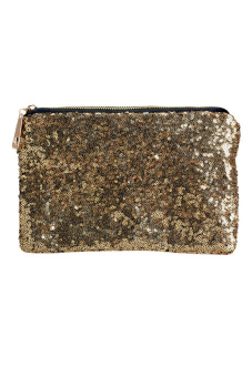Shining Handbag Glitter Spangle Clutch Bag (Intl)