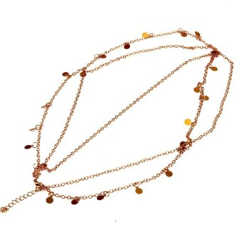 Fashion Gold Shiny Wavy Chain Tassel Street Snap Hair Decoration - intl