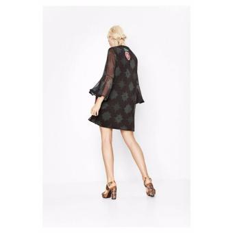 Váy Voan Tay Loe Desigual Dress Jeanne 71V2EA32000