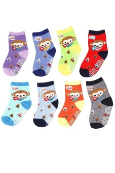 Bộ 8 đôi tất vớ trẻ em từ 5-8 tuổi bé trai SoYoung 8SOCKS 003 5T8 BOY