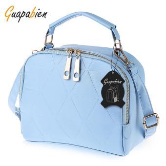 Solid Color Split Zipper Design Multifunctional Handbag Single Shoulder Bag for Ladies - intl