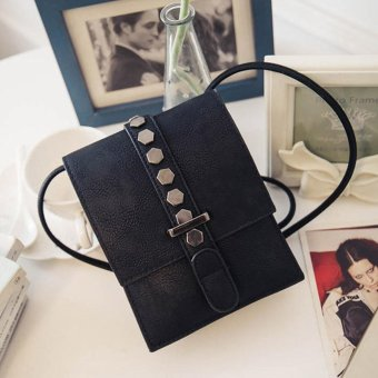 Mua Women Fashion Handbag Rivet Pattern Shoulder Bag Small Tote Ladies Purse Black - intl giá tốt nhất