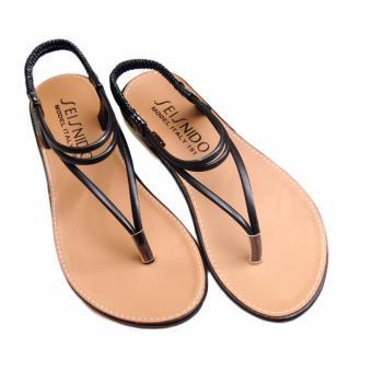 Giày xăng đan Lopez Cute D31 (Nâu Đen)