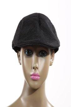 HKS Mens Vintage Flat Cap Peaked Racing Hat Beret Country Golf Newsboy(Black) - intl