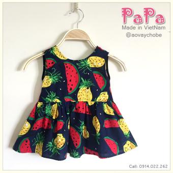 Đầm Dưa Hấu Khoét Lưng Nơ Sau Papa Fashion