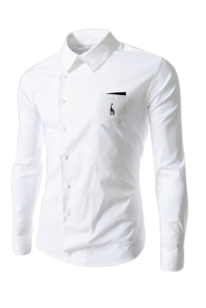 Reverieuomo CS36 Single-breasted Shirt (White) - Intl