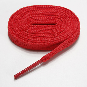 1pair Sneaker Flat Wide Shoelaces Sport Canva Shoe Laces String Tie 1.2m Red - intl