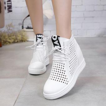 Giày Sneaker Nữ Đục Lỗ Độn Đế Phong Cách – TT227W (Trắng)