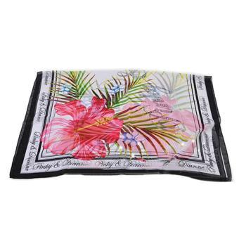 Women Lady Chiffon Colorful Patterns Cover-up Beach Sarong Bikini Swimsuit Swimwear Wrap Style D - intl