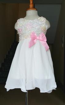 Đầm kim sa cho bé gái 2-9 tuổi (Trắng)