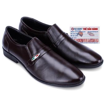HL7124 - Giày nam Huy Hoàng da bò màu nâu
