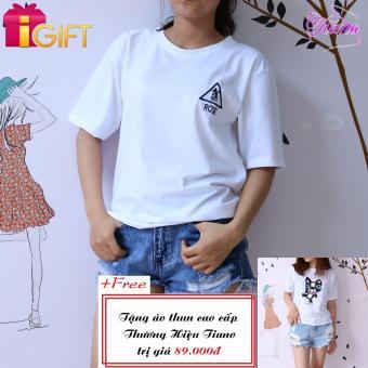 Áo Thun Nữ Tay Ngắn In Hình Rose Dễ Thương Tiano Fashion LV085 ( Màu Trắng ) + Tặng Áo Thun Nữ Tay Ngắn In Hình Con Mèo Dsquared2 Năng Động Tiano Fashion (Trắng)