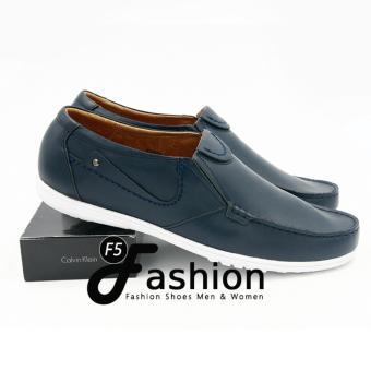 Giày Mọi Nam Đơn Giản Da Thật GM281 (Xanh nany)