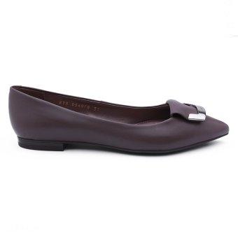 Giày Búp Bê Da Geox D Rhosyn B (Xám Đô)