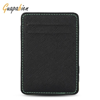 Guapabien Casual Style PU Leather Mini Card Holder Money Clip For Men(Green) - intl